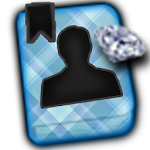 GO CONTACTS-DiamondPlaidBlue