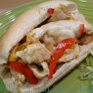 Chicken Philly Sandwiches!