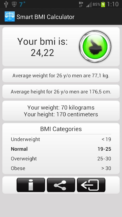 Smart BMI Calculator- screenshot