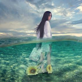 水 by Chua Chung nam - Digital Art People ( 水 )