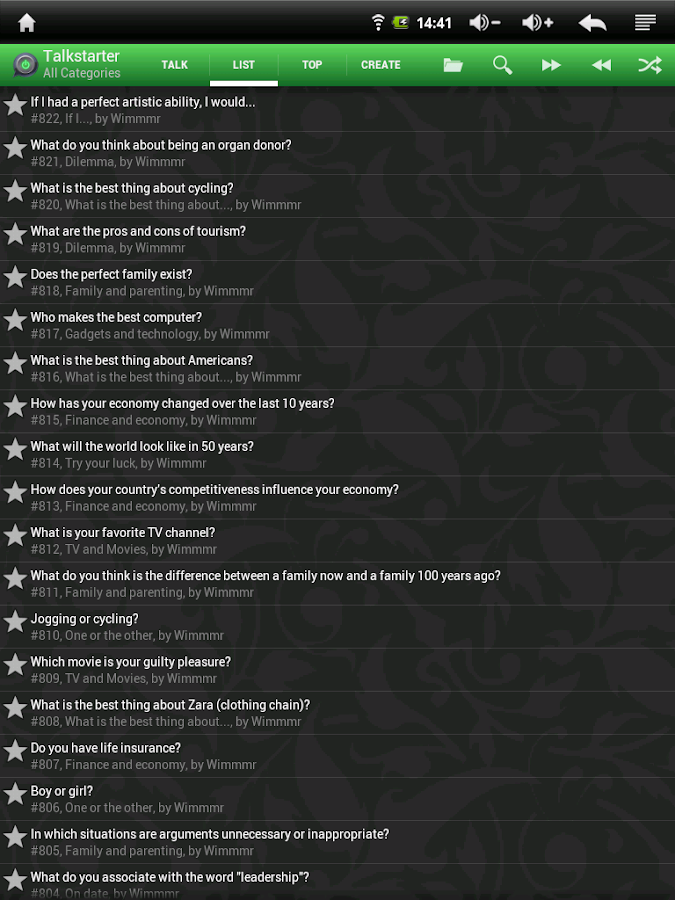 Talkstarter: Conversations- screenshot