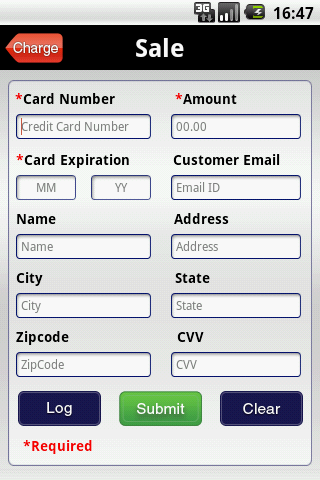 Merchant Account - screenshot