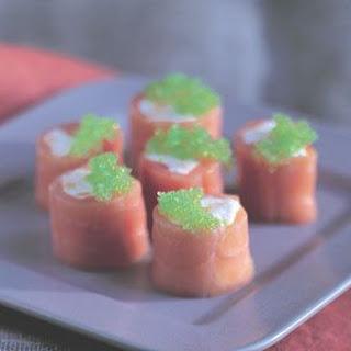 Smoked Salmon Roulades.