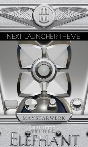Next Launcher Theme White Elep