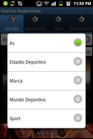 Diarios Deportivos - screenshot