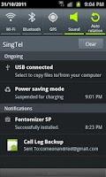 Screenshot of Backup Call logs,SMS & Contact