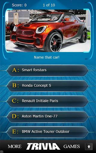 Name that Car Type Trivia