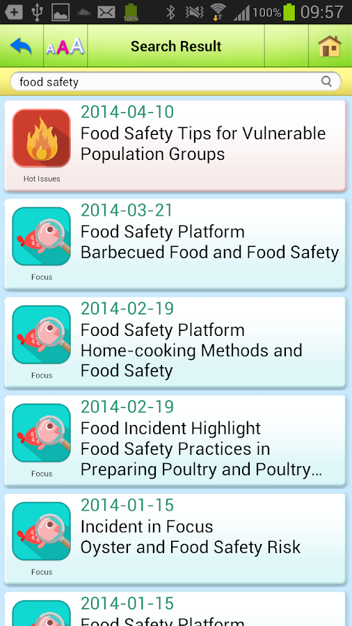 Food Safety - screenshot