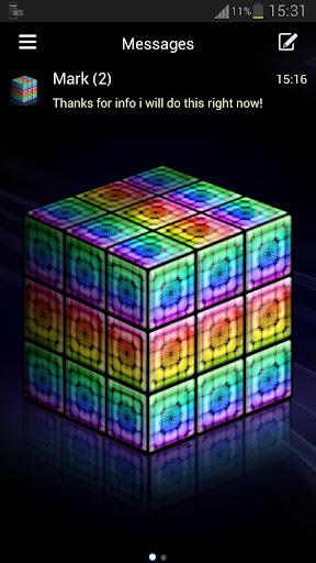 GO SMS Pro rainbow cube Buy