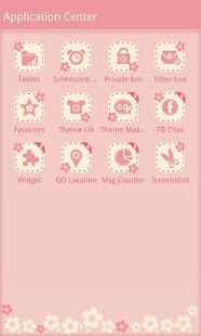 FlowerLove Theme GO SMS- screenshot thumbnail