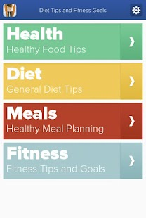 Diet Tips and Fitness Goals- screenshot thumbnail