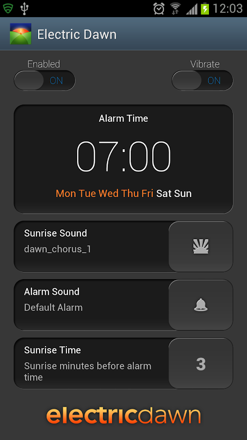 Electric Dawn - Alarm Clock- screenshot