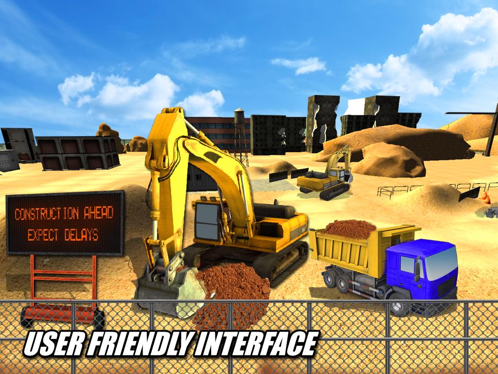 heavy excavator crane sim android apps on google play