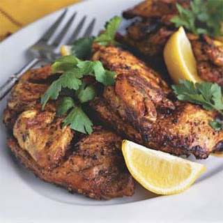 Brick-Grilled Cornish Hens.
