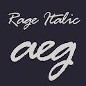 Rage Italic FlipFont icon