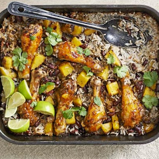 Mango Chicken, Bean & Rice Bake