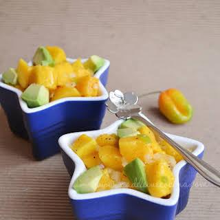 Mango Salad with Habanero Pepper and Avocado.