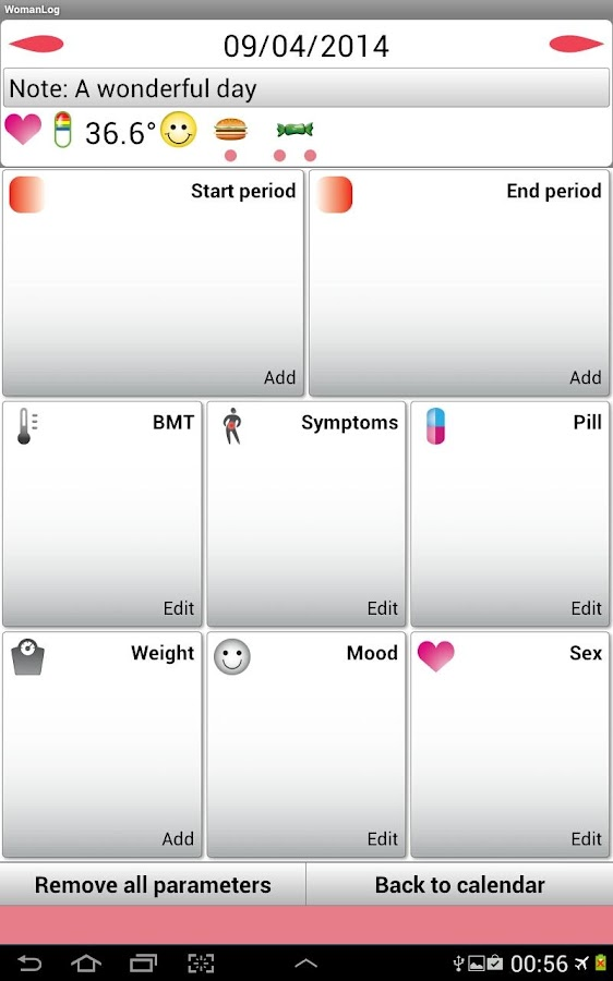 WomanLog Calendar- screenshot