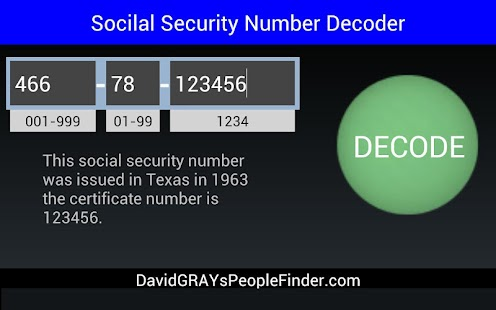 Casino social security number