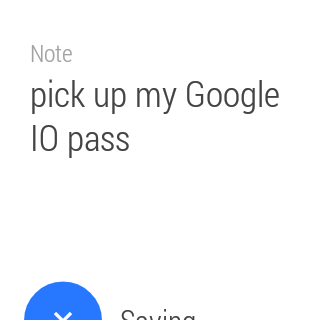 Evernote for Android Wear- screenshot