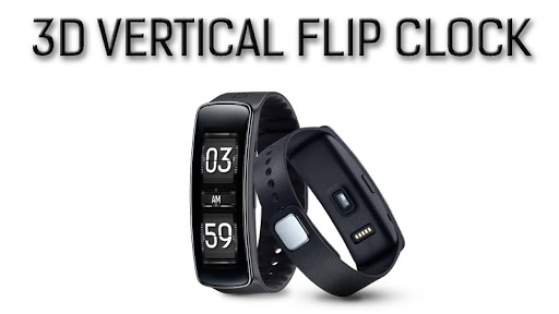 3D Flip V Clock For Gear Fit