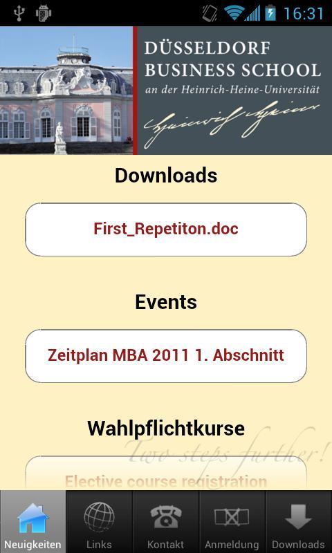 Düsseldorf Business School- screenshot