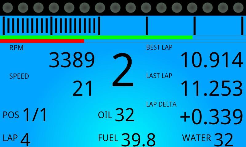iRaceDash- screenshot