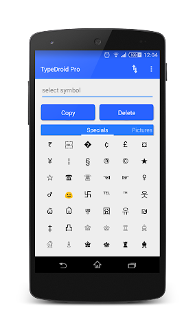 android TypeDroid Pro with Keyboard Screenshot 0