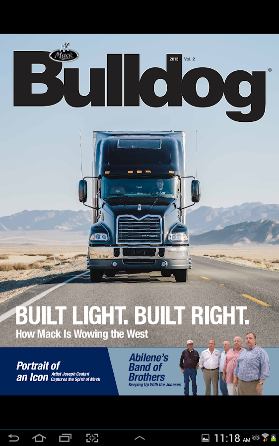 Bulldog – Mack Trucks Magazine- screenshot
