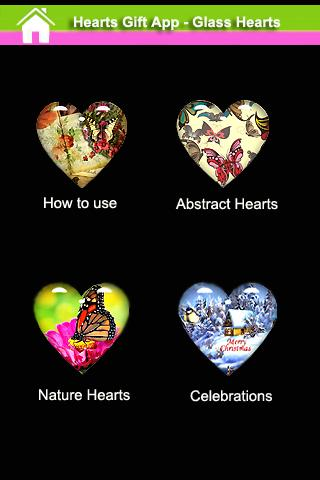 Hearts Gift App - Glass Hearts
