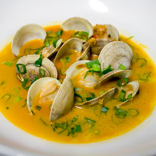 Clams in Coconut Curry Broth