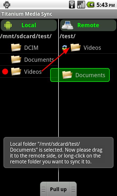 Titanium Media Sync - screenshot
