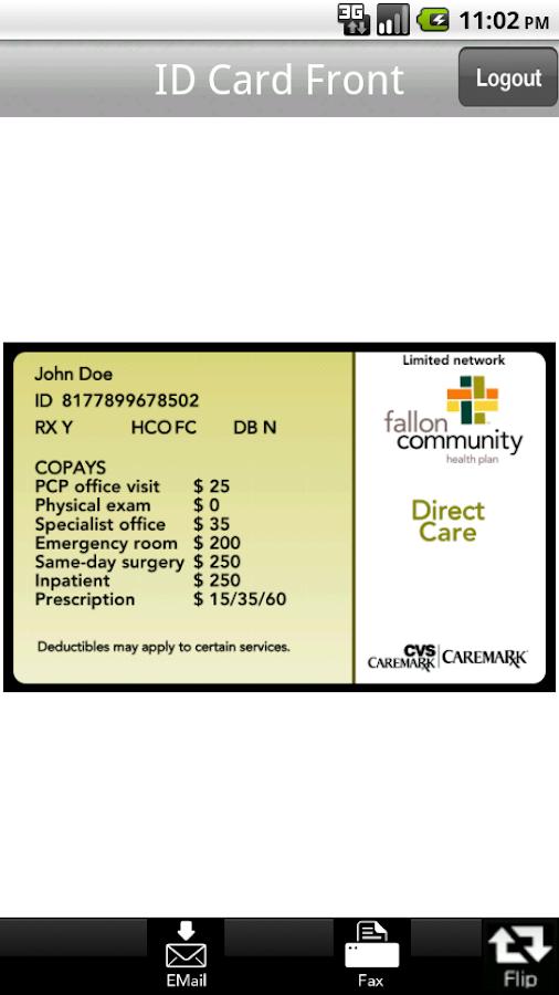 FCHP Member ID Card - screenshot