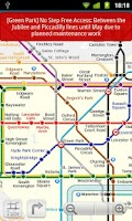 Screenshot of London tube (Metro 24)