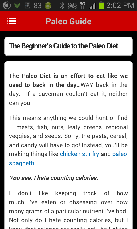 Paleo Central - screenshot