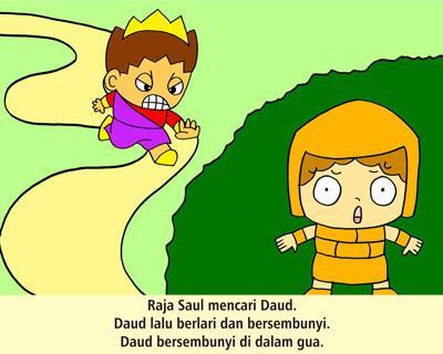 Alkitab Anak : Daud Save Saul
