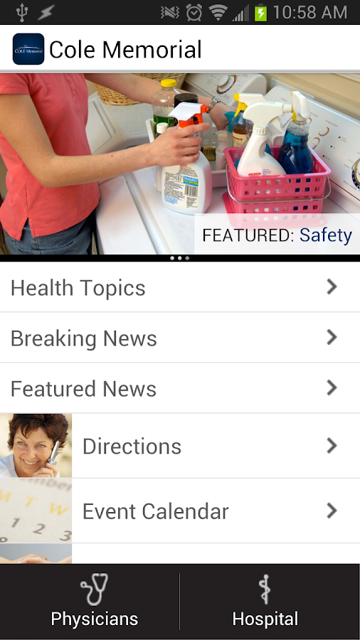 Cole Memorial Health Network- screenshot