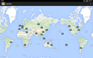 Screenshot of Image Map - with google map