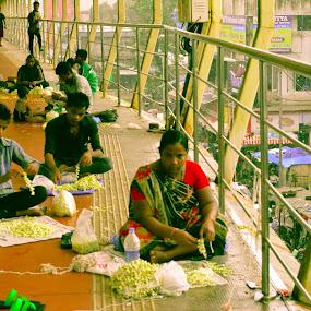 Flowers of Innocence - Mumbai !!! by Rushi Chitre - People Street & Candids