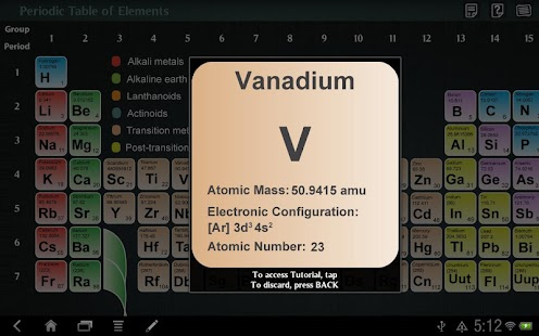 Periodic Table of Elements - screenshot thumbnail