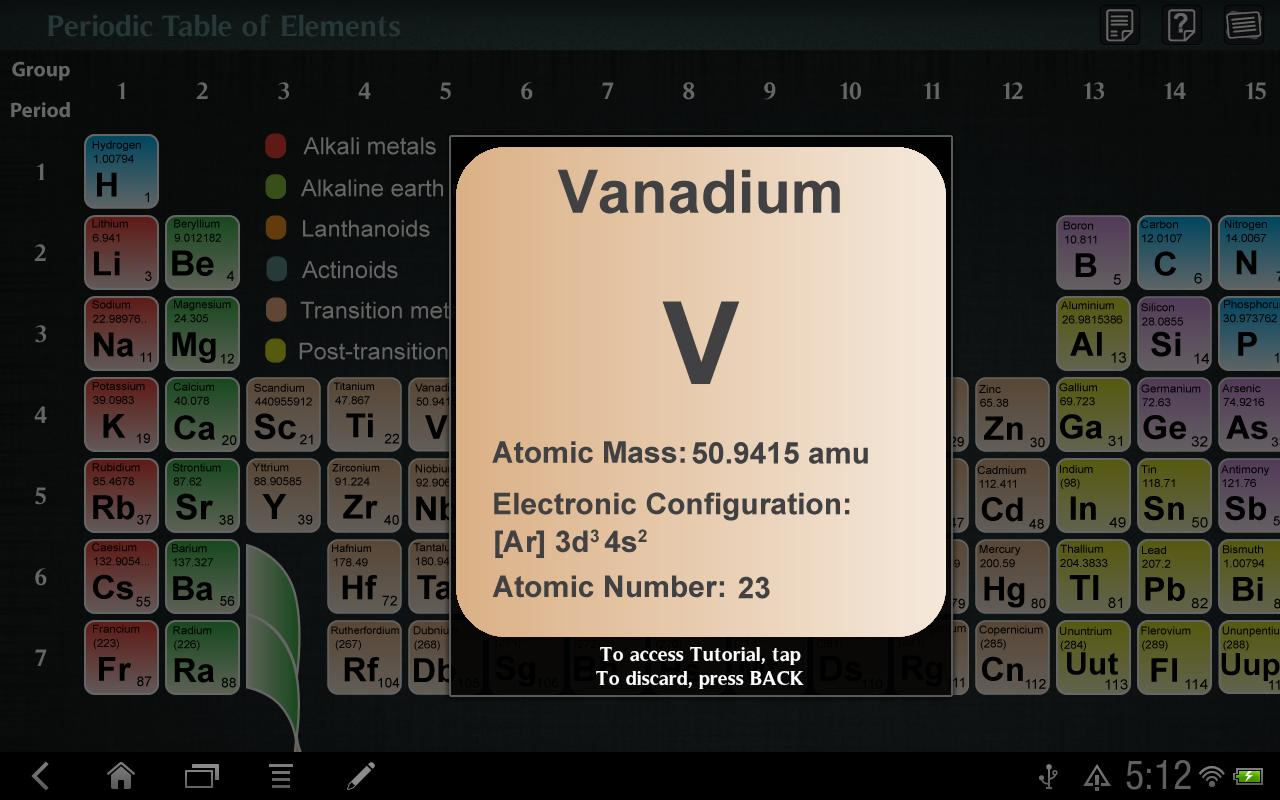Periodic Table of Elements - screenshot
