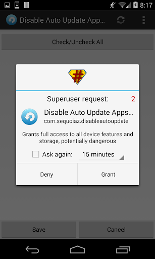 Disable Auto Update Apps