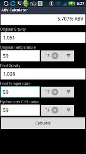 ABV Calculator- screenshot thumbnail
