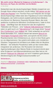 Religionswissenschaft REMID - screenshot thumbnail