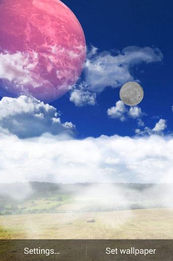 玩個人化App|蓝色的天空背景的动画免費|APP試玩