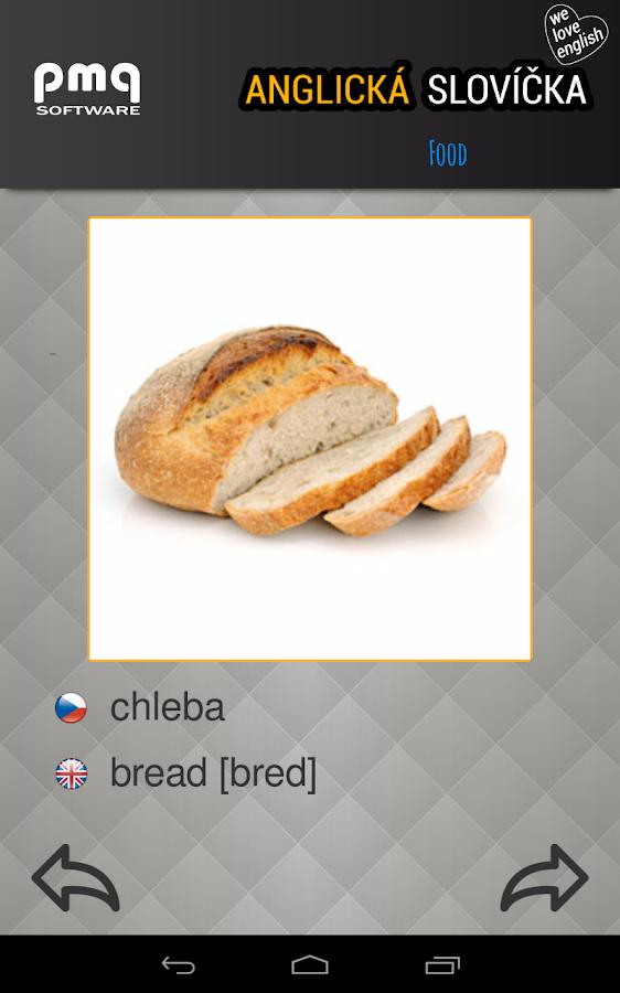 Anglická slovíčka - screenshot