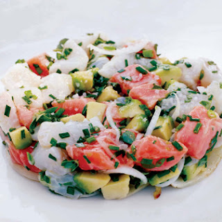 Lobster Salad with Green Beans, Apple, and Avocado.
