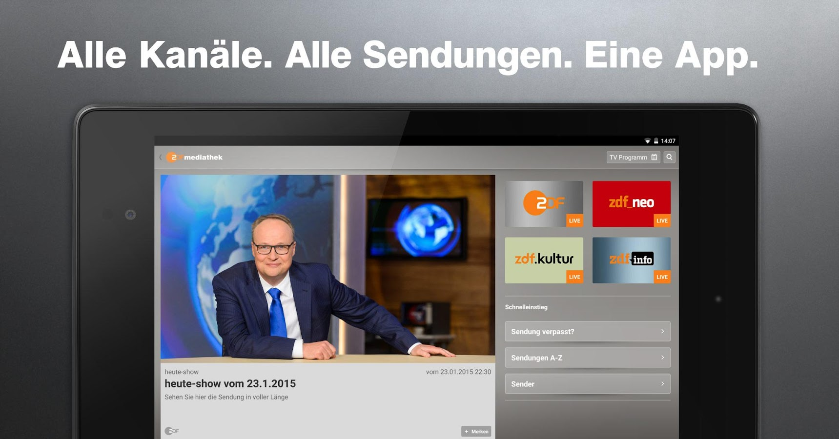 ZDF-App- screenshot