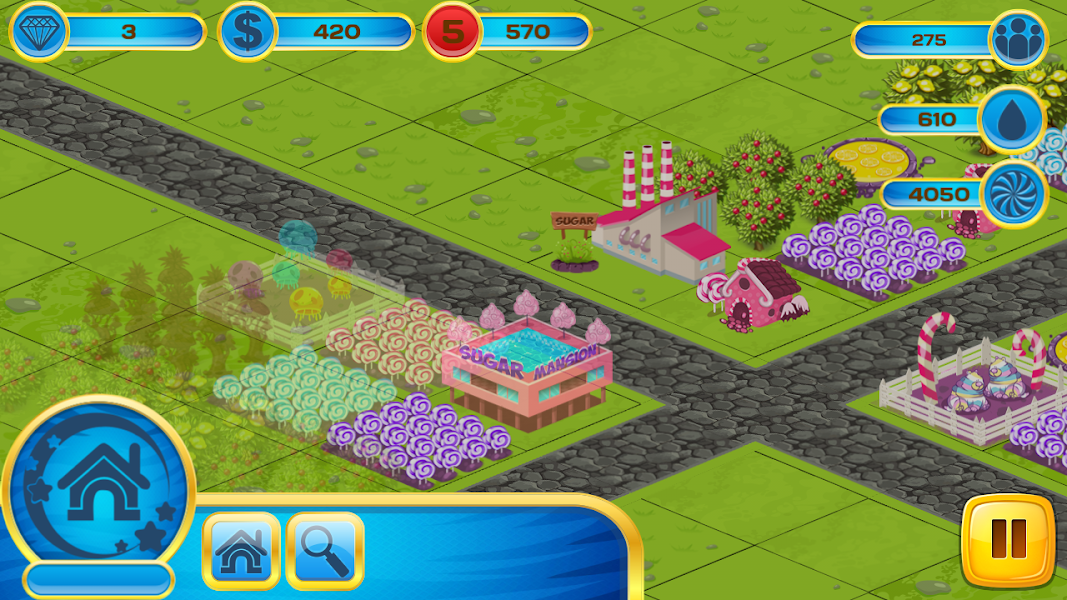 Happy Candy Farm, township game, magic factory, business skills, best strategy, business game