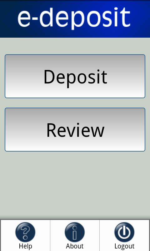 e-deposit - screenshot
